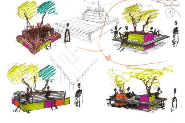 mobilier urbain en plastique recycl le p le eco design. Black Bedroom Furniture Sets. Home Design Ideas