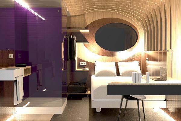 Chambre d\'hôtel modulaire éco-conçue   Le Pôle Eco Design